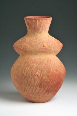 Orange Figurative Jar